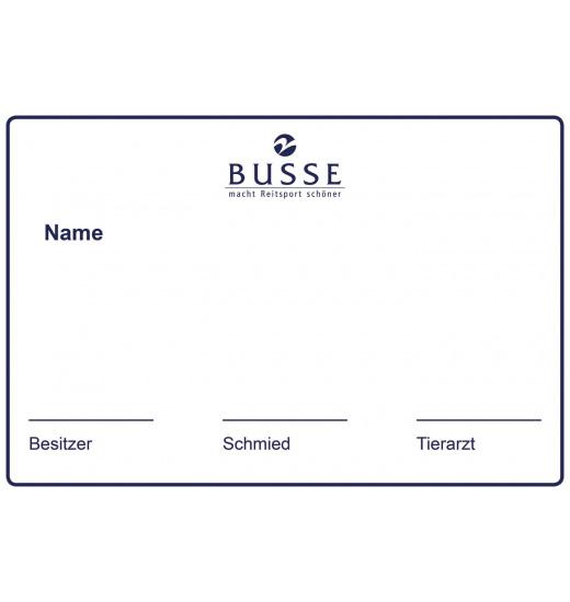 Busse BUSSE TABLICZKA NA BOKS STABLE