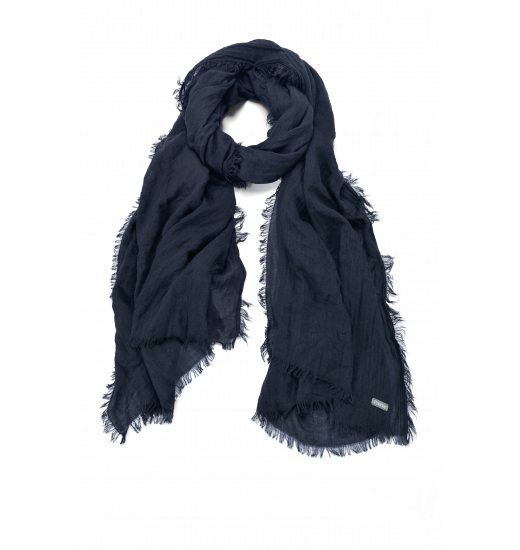 PLAIN SUMMER FOULARD WITH FRINGE