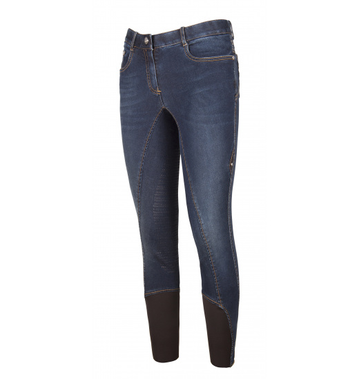 GINGER LADIES DENIM HALF GRIP BREECHES