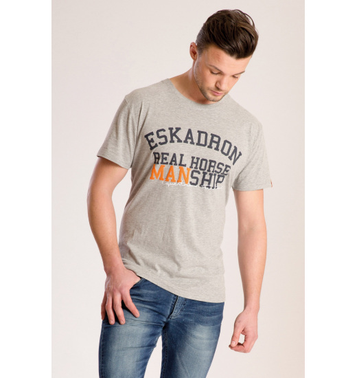 KENT MENS T-SHIRT GREY MELANGE