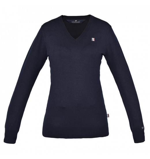 CLASSIC LADIES V-NECK KNITTED JUMPER