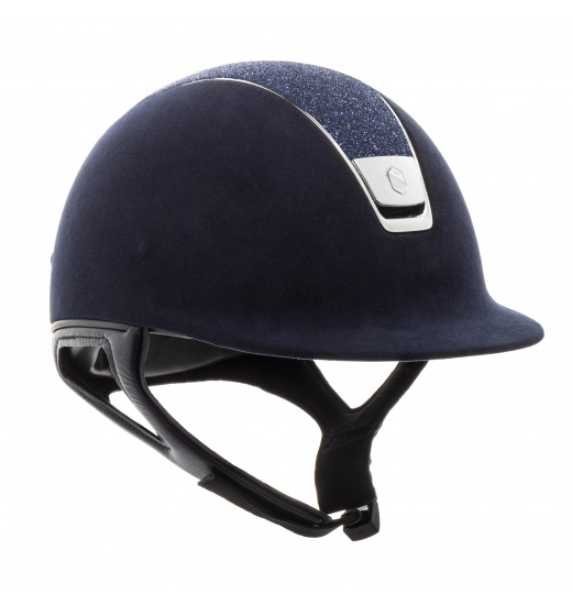 PREMIUM / CRYSTAL FABRIC SWAROVSKI BLUE TOP NAVY HELMET