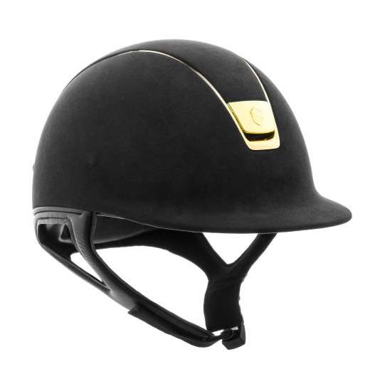 KASK PREMIUM / ALCANTARA TOP / CHROME GOLD / CHROME CZARNY