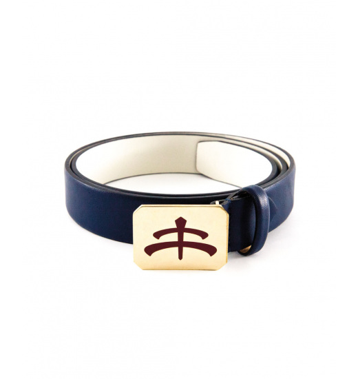 LUXY GLAZE BELT NAPPA LEATHER AND BRASS
