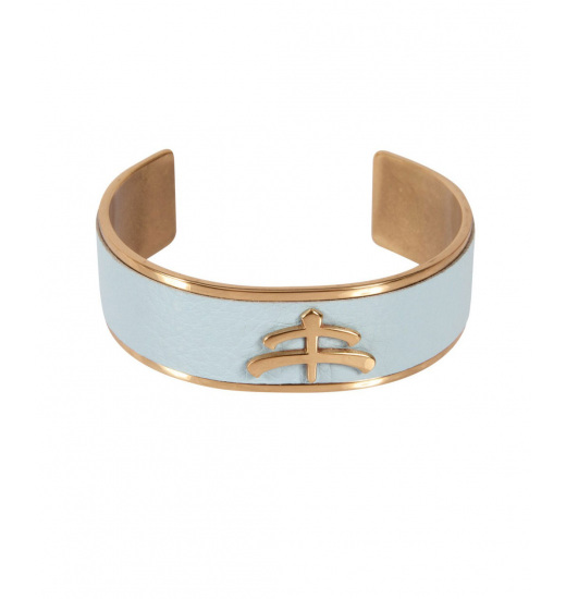 MaKeBe MAKEBE LEATHER AND BRASS BANGLE