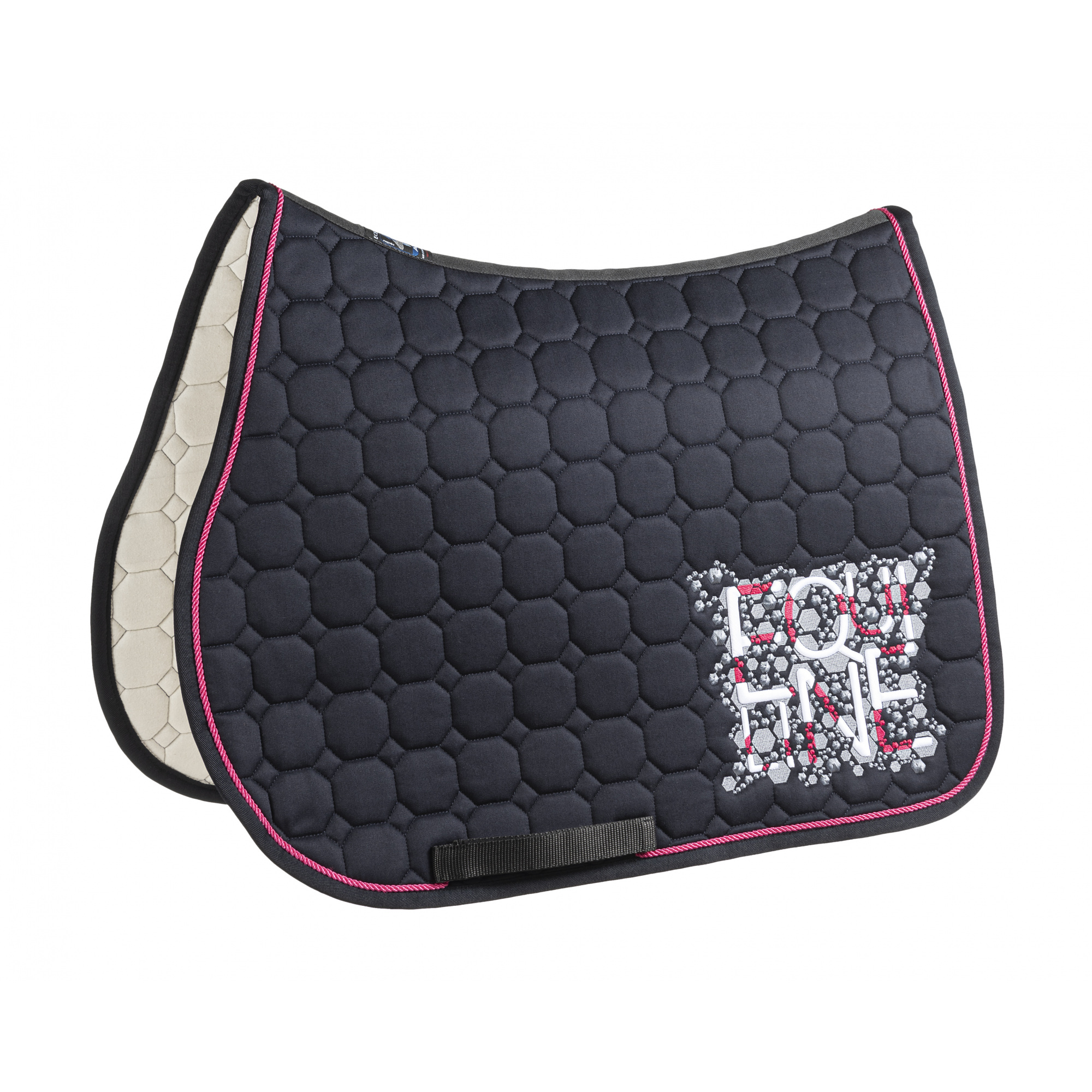 Equiline Saddlecloth Octagon Holly Doppelkordel And Glitter