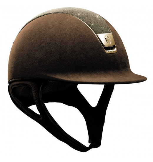 TOP CRYSTAL / GOLDEN CHROME 5 / BROWN PREMIUM HELMET