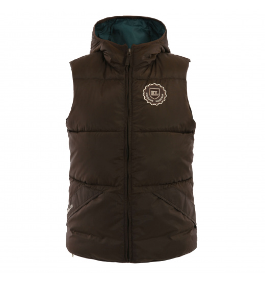 MANY UNISEX QUILTED VEST WITH A HOOD