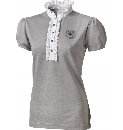 LADIES SHOW SHIRT WITH FRILL AND SEQUINS